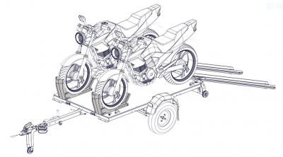 Motorsykkel holder stativ for WallTrailer™